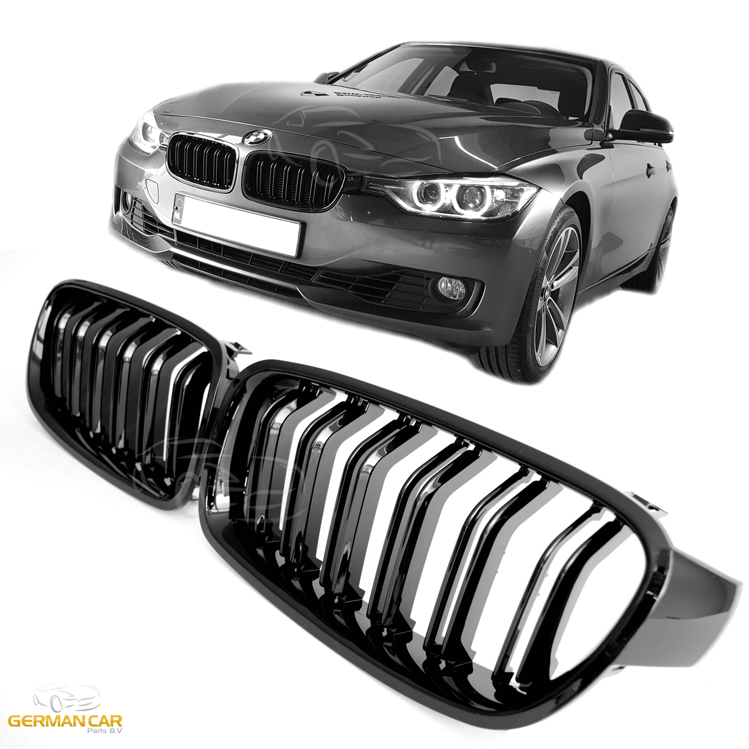 Bmw Grills: GRILLE FOR BMW F30 F31 SPORT KIDNEY DOUBLE SLAT M3 LOOK