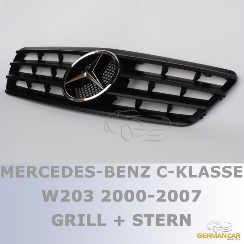 grill sport k hlergrill f r mercedes w203 s203 cl matt. Black Bedroom Furniture Sets. Home Design Ideas