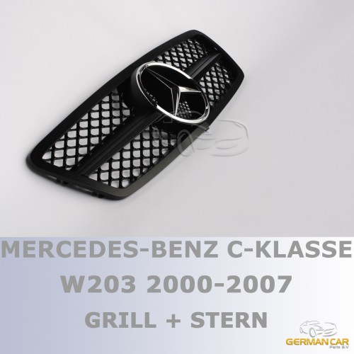 grill sport k hlergrill f r mercedes w203 s203 matt. Black Bedroom Furniture Sets. Home Design Ideas